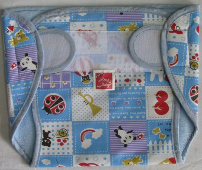Love Baby Dry Quick Cloth with Plastic Diaper Blue - Extra Large