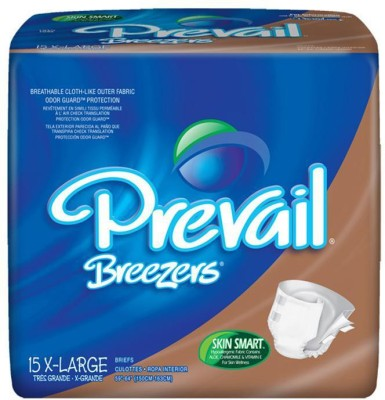 Prevail Breezers Adult Diapers - Waist Size 59 To 64 Inches - X-Large
