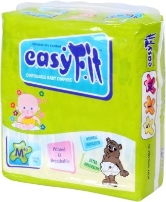 Easy Fit Disposable Baby Diapers - M(40 Pieces)