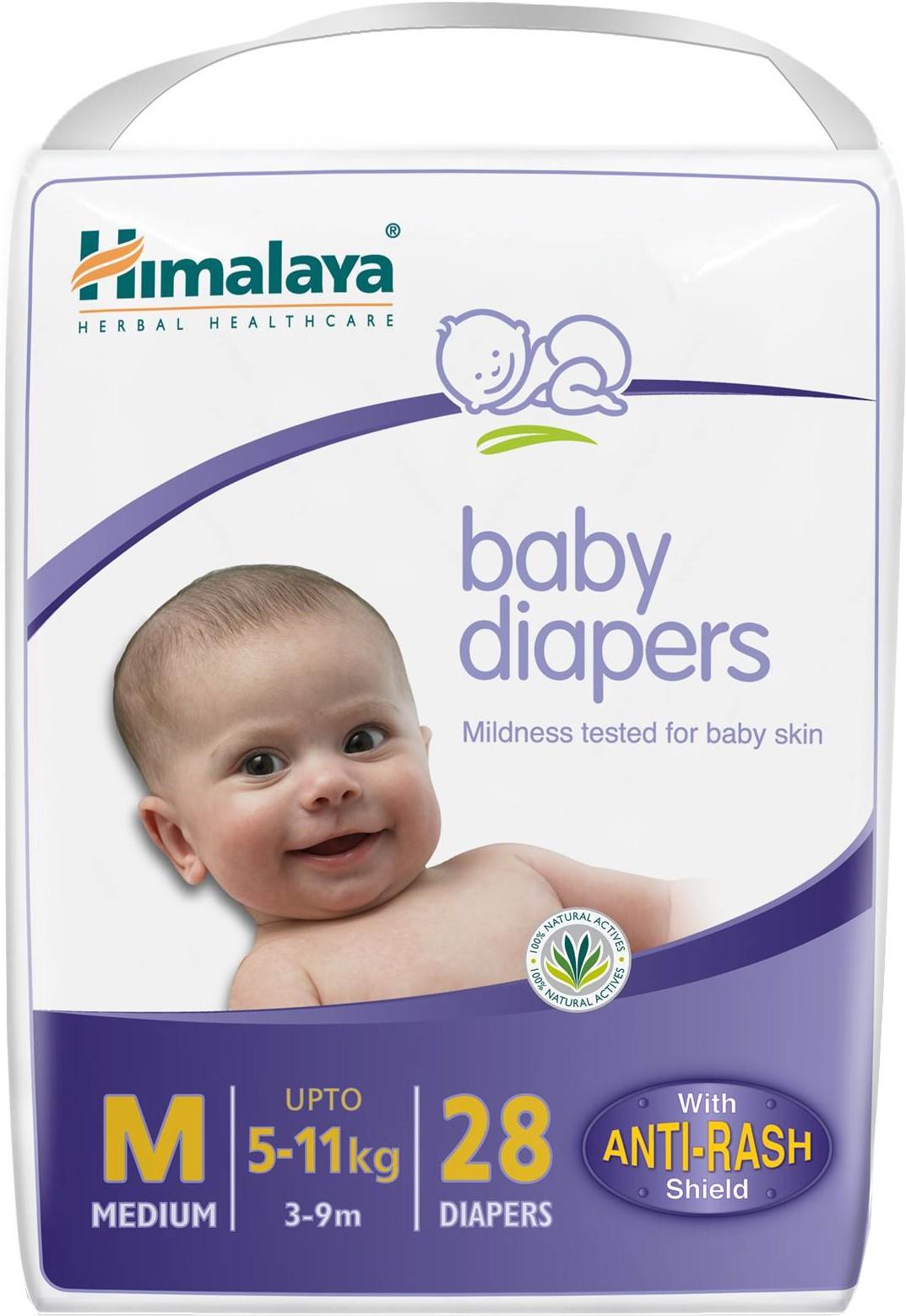 Himalaya Baby Diapers Medium - Medium(28 Pieces)