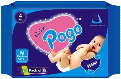 New Pogo DIAPER PANTS - Pack of 4(Set of 12) - MEDIUM