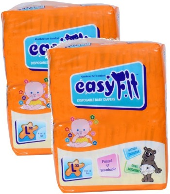 Easy Fit Baby Diaper - L(32 Pieces)