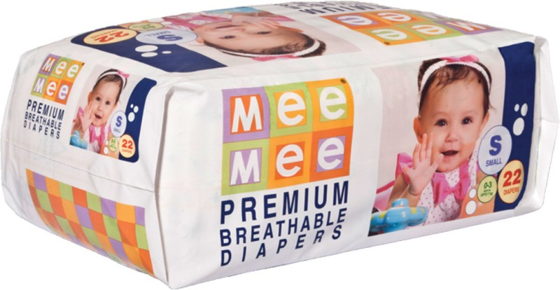 Mee Mee Premium Breathable Diapers - S(22 Pieces)
