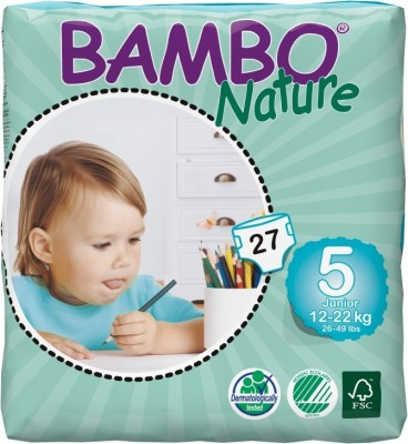 Bambo Nature Junior 12-22 kg, 27 Count - Size 5(27 Pieces)