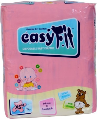 Easy Fit Disposable Baby Diapers - XS(56 Pieces)