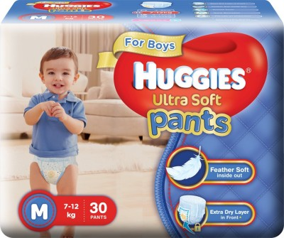 Huggies Ultra Soft Pants - M(30 Pieces)