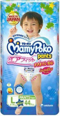 Mamy Poko Pants Airfit L44 (Boy) - L(44 Pieces)