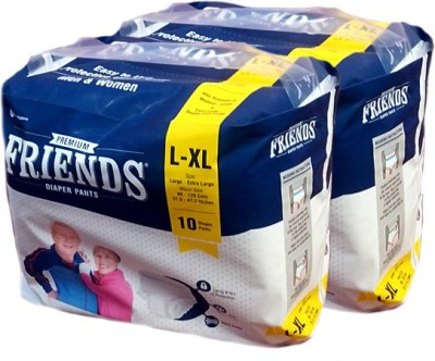 FRIENDS PULL UPS / PANT STYLE DIAPERS SET OF 2 PACKS OF 10 Pcs. - L-XL