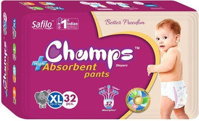 Champs Champs High Absorbent Pant Style Diaper - Extra Large Size 32 Pieces - Extra Large