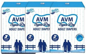 Avm Super Dry Adult Diapers Regular - M(30 Pieces)
