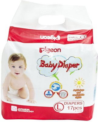 Pigeon Pigeon Baby Large Size Diaper (17 Count) - Large(1 Pieces)