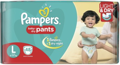 PAMPERS DIAPERS - Large