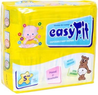 Easy Fit Disposable Baby Diapers - S(48 Pieces)