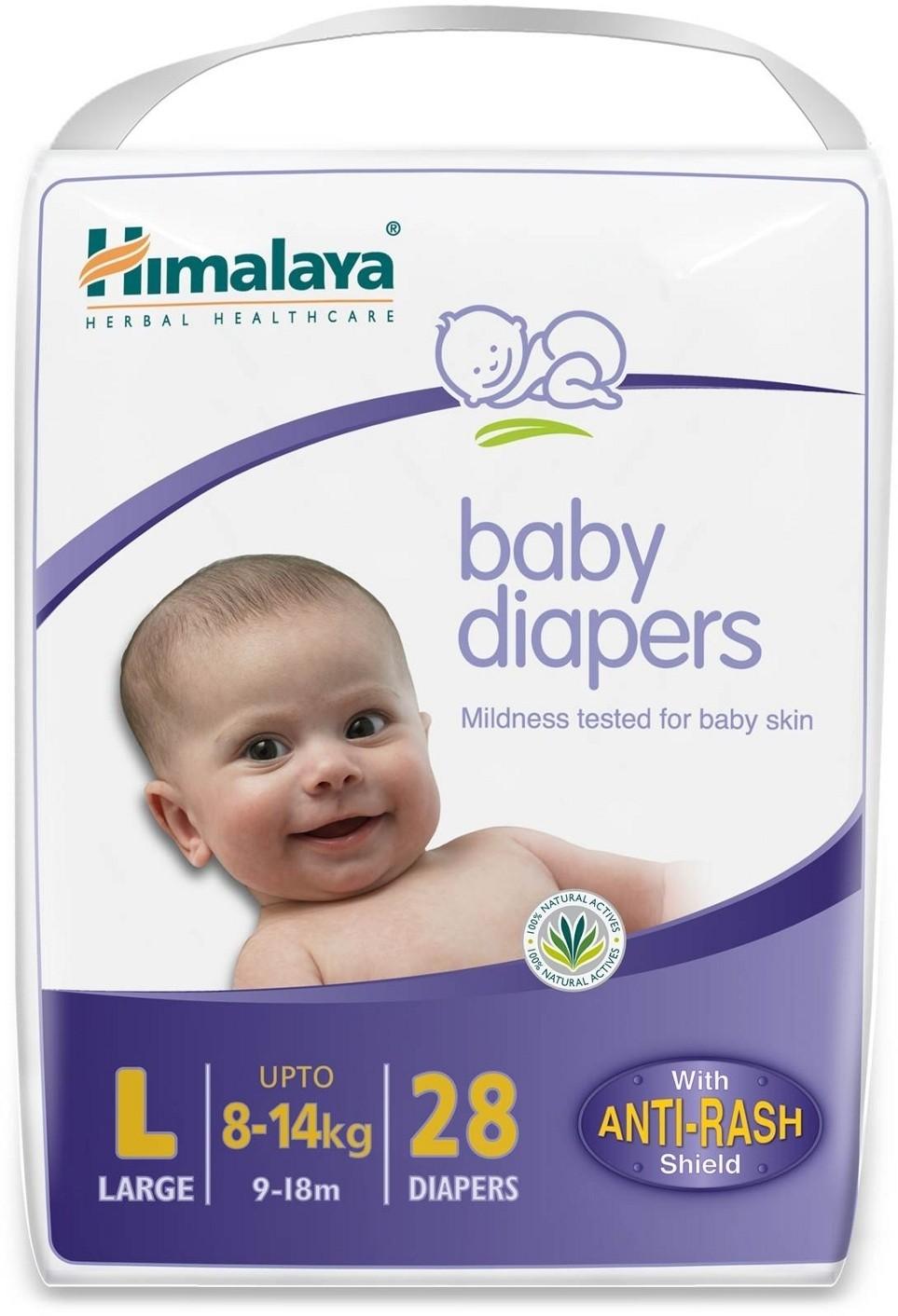 Himalaya Baby Diapers - Large 28 Pieces