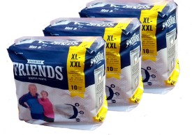Friends PULL UPS / DIAPER PANTS PACK OF 3 - XL(3 Pieces)