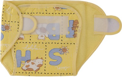 Love Baby Dry Quick Cloth with Plastic Diaper Yellow - Medium