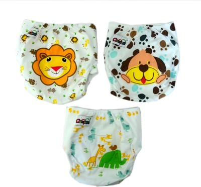 iCuddle Combo OF Adjustable And Washable Cotton Diaper For Baby - XL