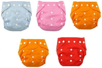 WonderKart Washable Cloth Diaper Nappies - M(5 Pieces) at flipkart