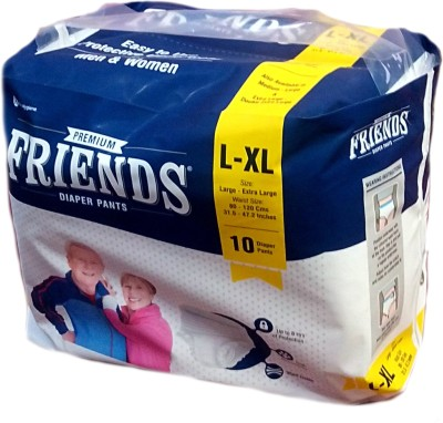 FRIENDS PULL UPS / PANT STYLE DIAPERS 10 Pieces - LARGE-XL