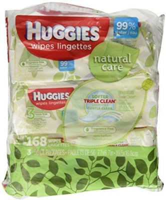 Huggies Natural Care Fragrance Free Soft Pack Wipes - One Size