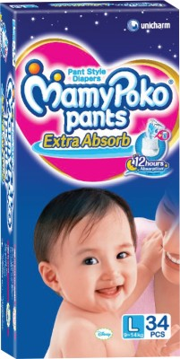 Mamy Poko Pants - L(34 Pieces)