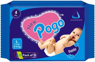 New Pogo Diaper Pants - Pack Of 4(Set Of 12) - Large