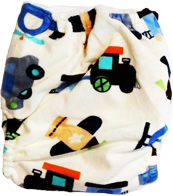 TheTickleToe Cloth Diaper with Snaps - Car - Free Size