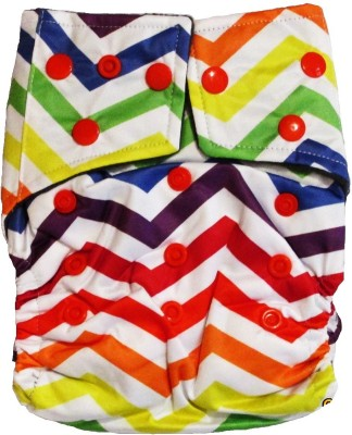 TheTickleToe Washable Printed Diapers with Inserts - Free Size