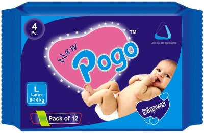 New Pogo DIAPERS - Pack of 4(Set of 12) - LARGE