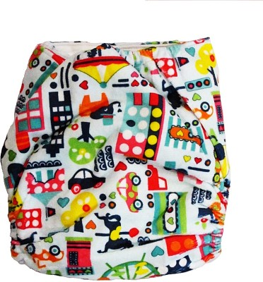 TheTickleToe Cloth Diaper with Snaps - City - Free Size