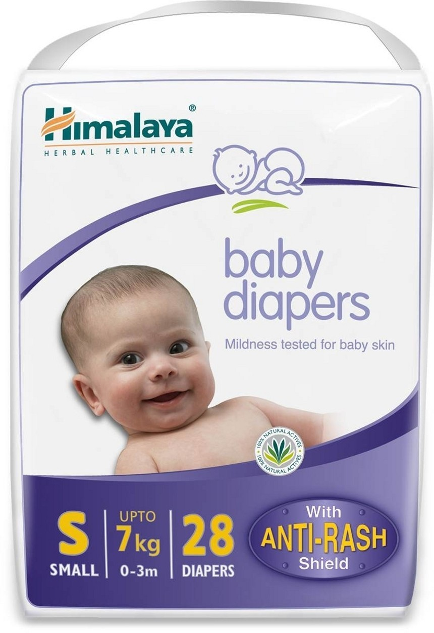 Himalaya Baby Diapers Small 28 pieces - Pack of 2 - Small