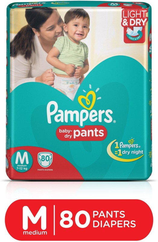 Pampers Pants Diapers Medium Size 80 pc Pack - M(80...