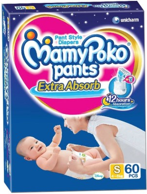 MAMY POKO EXTRA ABSORB PANT STYLE DIAPERS - SMALL 60