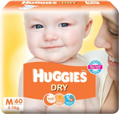 Huggies New Dry - M(60 Pieces)