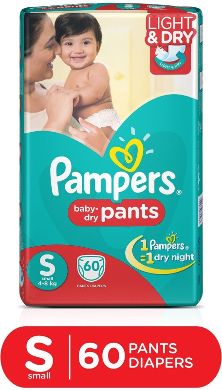 Pampers Pants Diapers Small Size 60 pc Pack - S(60...