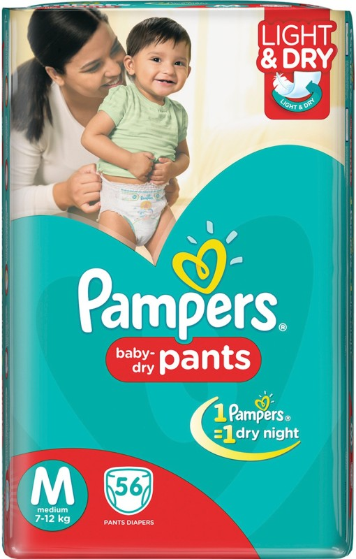 Pampers Pants Diapers - M(56 Pieces)