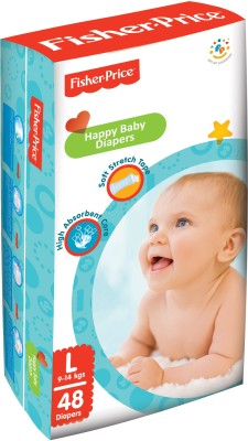 FisherPrice Happy Baby Diapers - Large - (9-14 Kgs)