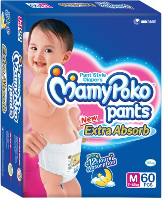 Mamy Poko Pants Diaper - M(60 Pieces)