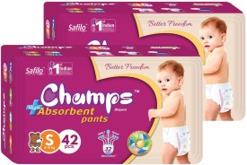 Champs Champs High Absorbent Pant Style Diaper Small 42 Pieces Pack 2 - S(2 Pieces)