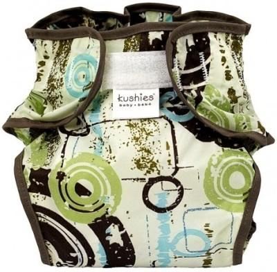 Kushies Taffeta Waterproof Diaper Wrap Distressed Circle Green - Toddler
