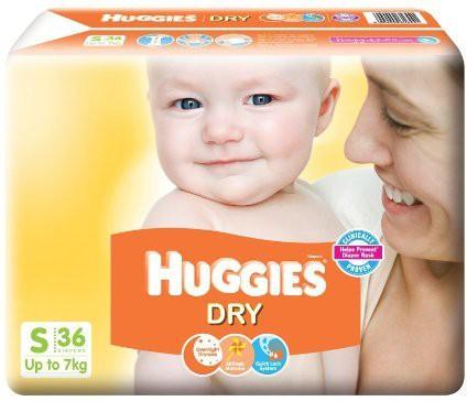 Huggies HUGGIES DRY - SMALL(36 Pieces)