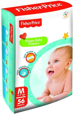 FisherPrice Happy Baby Diapers - Medium - (6-11 Kgs)