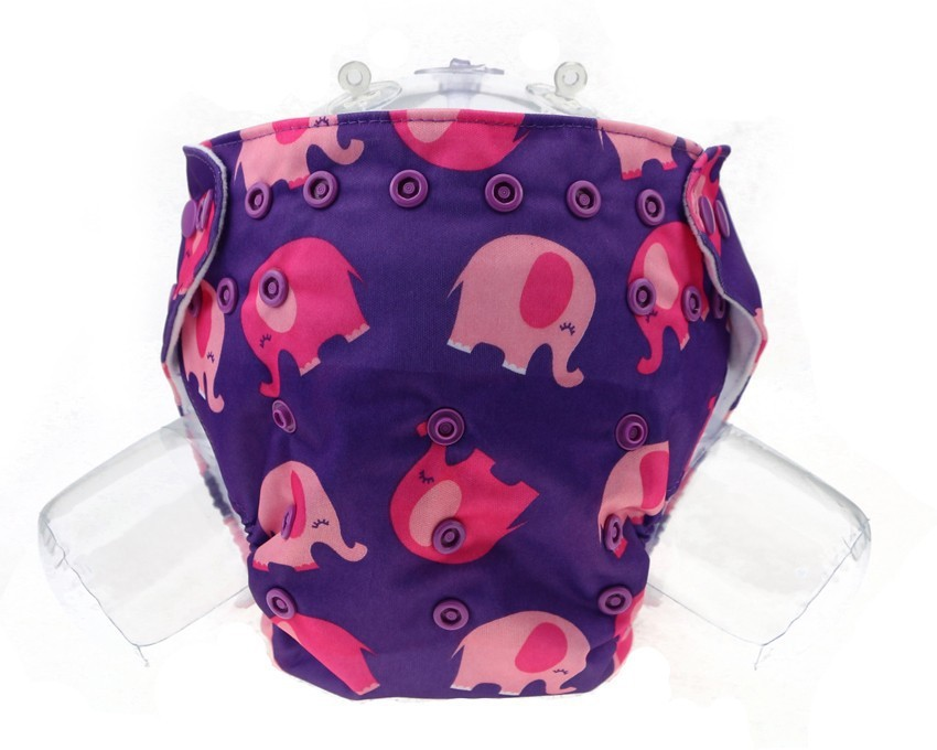Carter's All in One Reusable Waterproof One Size Nappy Elephant Print - Free(1 Pieces)