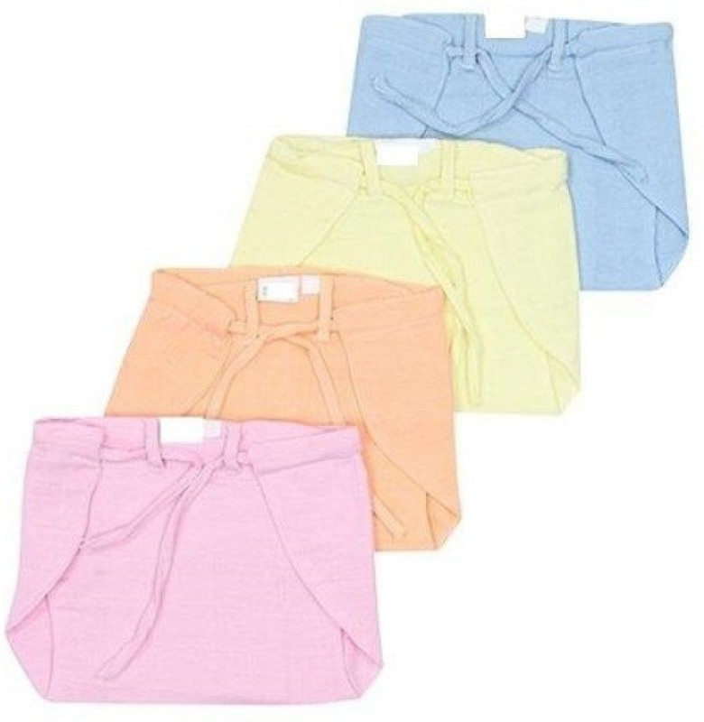 First Smiles Msulin Diaper With Thred To Tie - S(4 Pieces)