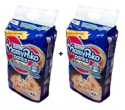 MAMY POKO EXTRA ABSORB PANT STYLE DIAPERS ( SET OF 02 PACKS OF 42 PCs ) - XL-42