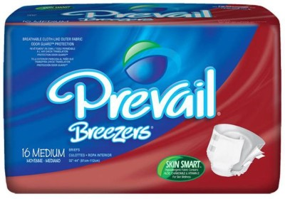 Prevail Breezers Adult Diapers- Waist Size 32 To 44 Inces - Medium