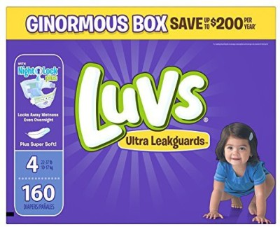 Luvs Ultra Leakguards Diapers, Size 4, 160 Count - M(160 Pieces)