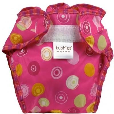 Kushies Taffeta Waterproof Diaper Wrap Crazy Circles Fuchsia - Infant