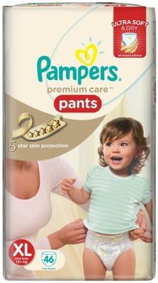 Pampers Premium Care Pants Extra Large - 46pcs (12 Kgs Plus) - Free Size