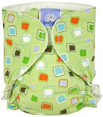 Kushies Baby Basic Diaper Single Green Squares - Infant